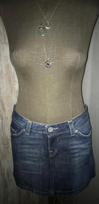 falda denim zara.