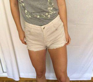 Shorts vaqueros blancos