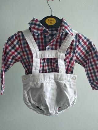 Conjunto:Peto+camisa 6-9meses