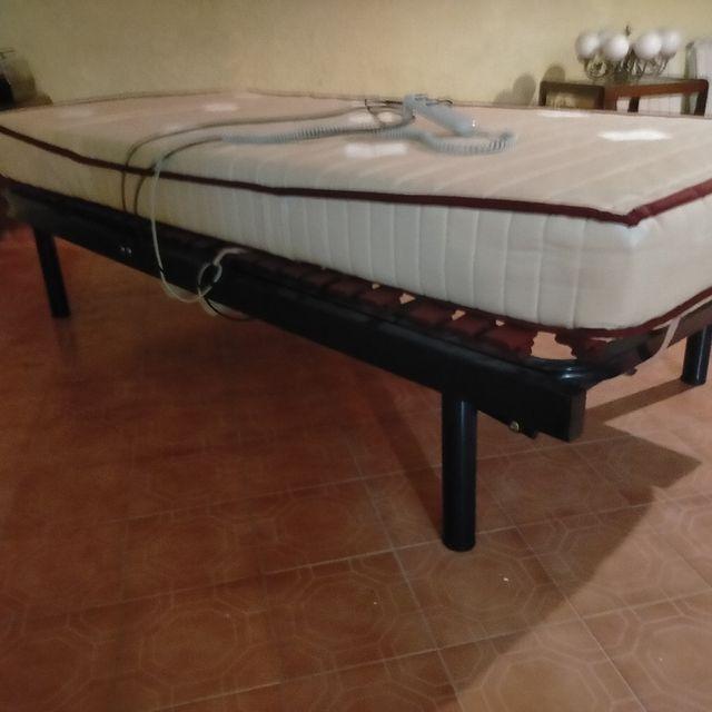 cama articulada 90x190 con colchón viscoelástico