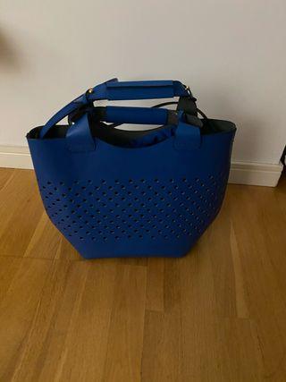 Bolso de cuero azul de Zara nuevo
