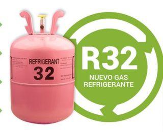 carga de gas R32 aire acondicionado