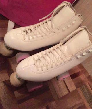 Patines patinaje artístico 4 ruedas talla 38