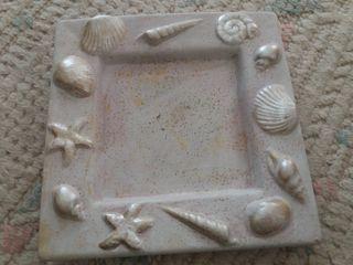 plató decorado conchas