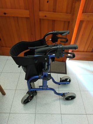 Andador geriátrico con frenos