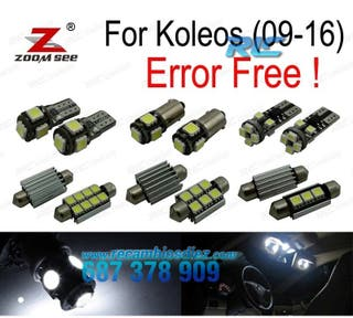 KIT COMPLETO DE 12 BOMBILLAS LED INTERIOR RENAULT