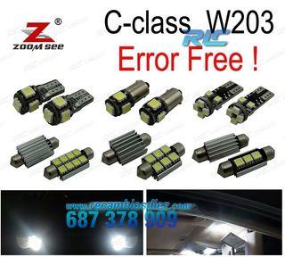 KIT COMPLETO DE 17 BOMBILLAS LED INTERIOR MERCEDES
