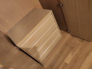 Cajonera 4 cajones Serie Montada roble 70x50x73cm