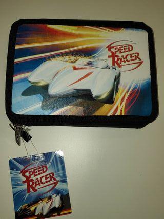 Estuche plumier escolar Speed Racer