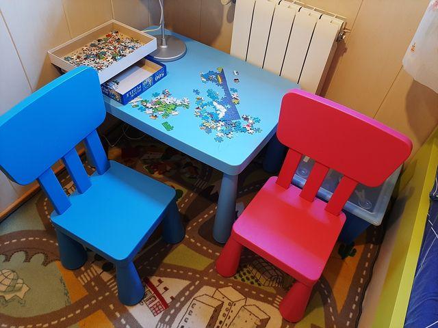 Mesa y dos sillas Infantiles Ikea