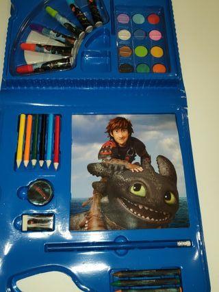 Maletin arte Como entrenar a tu dragon