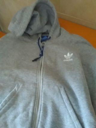 sudadera Adidas mujer gris