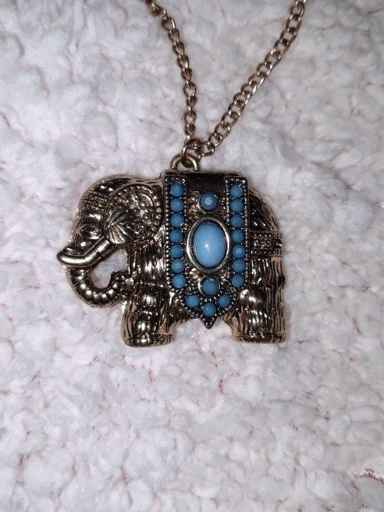 collar largo elefante