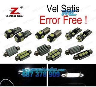 KIT COMPLETO DE 17 BOMBILLAS LED INTERIOR RENAULT