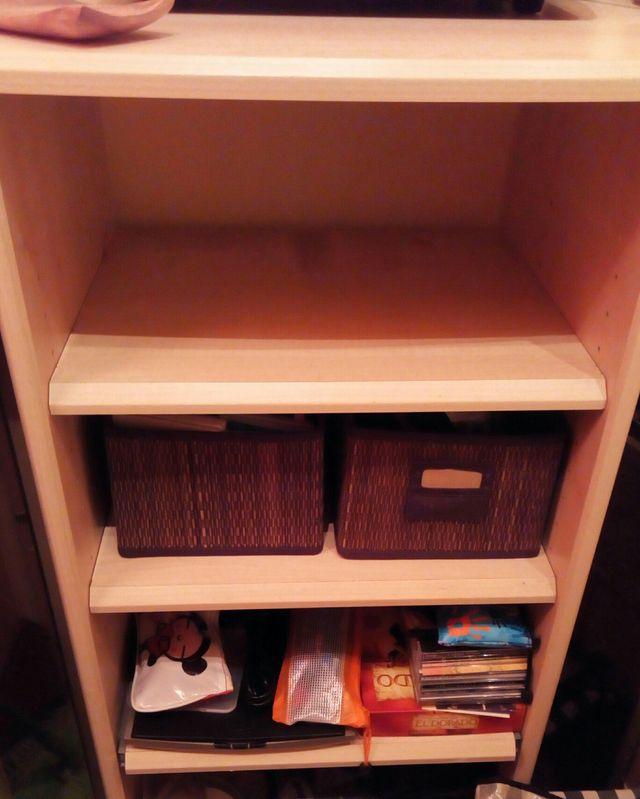 Estanteria mueble auxiliar 3 estantes con ruedas