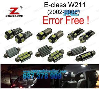 KIT COMPLETO DE 25 BOMBILLAS LED INTERIOR MERCEDES