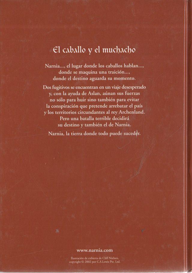 LIBRO LA CRONICA DE NARNIA EL CABALLO Y EL MUCHAC