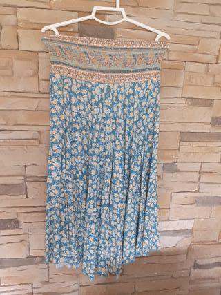 pantalon ancho de flores talla M