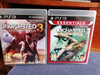 Uncharted 1 y 3-- PlayStation 3