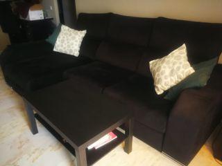 sofá chaise longe negro