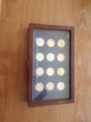 colección de monedas del real Madrid
