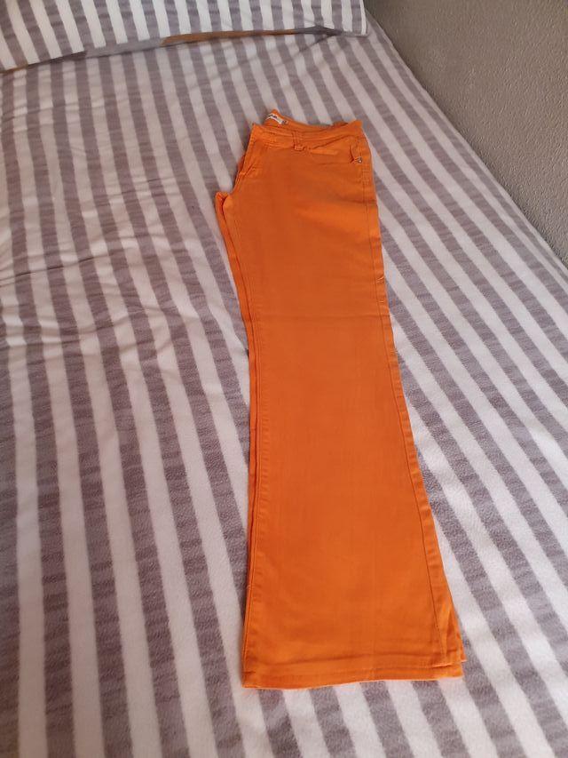 pantalon Vaquero naranja