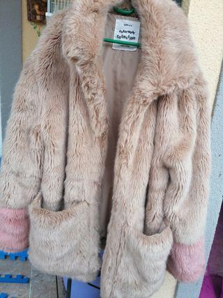 abrigo niña pelo, seminuevo, talla 11-12