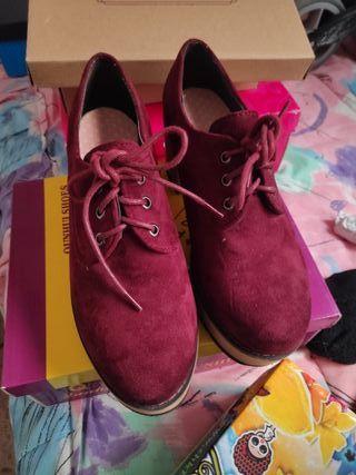 Zapatos cordones plataforma