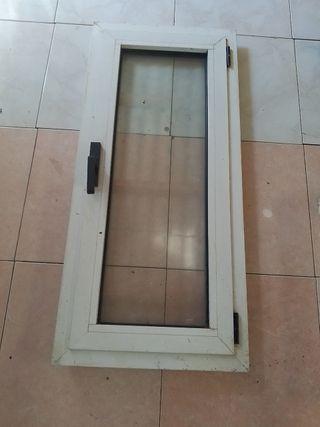 ventana de aluminio como nueva
