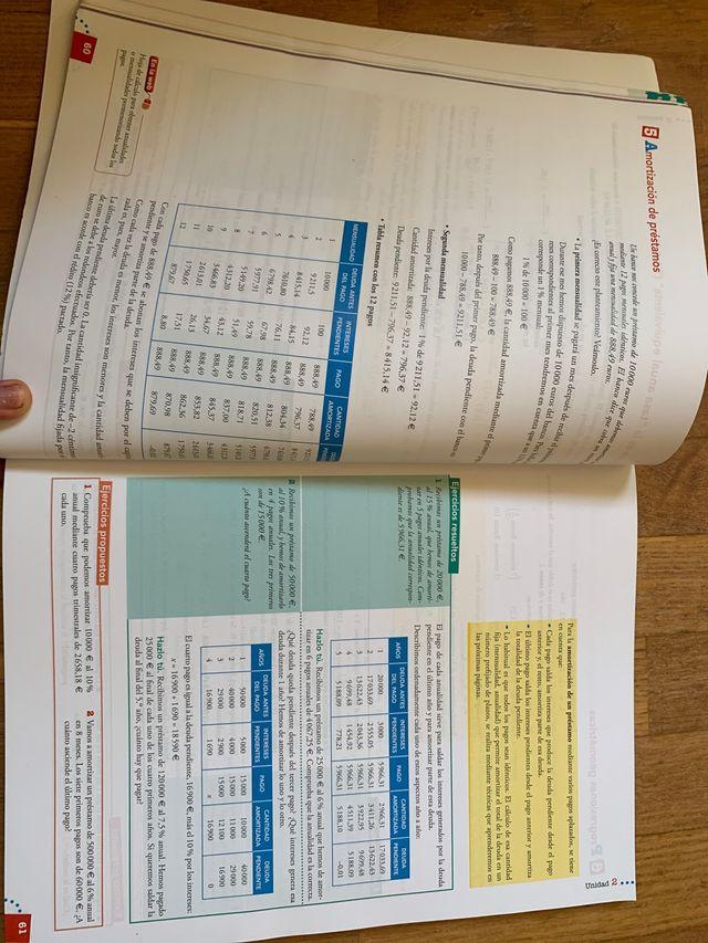 Libro Matemáticas 1 de bachillerato