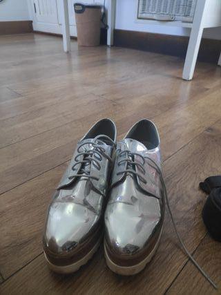 Zapatos metalizados mujer