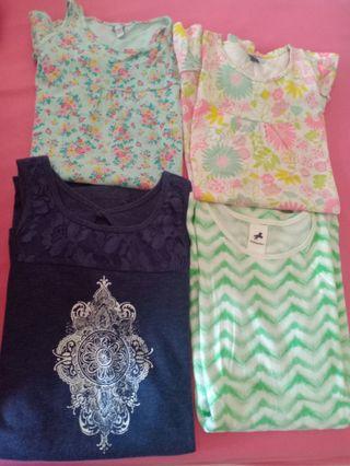 Lote 4 vestidos punto niña. Talla 8
