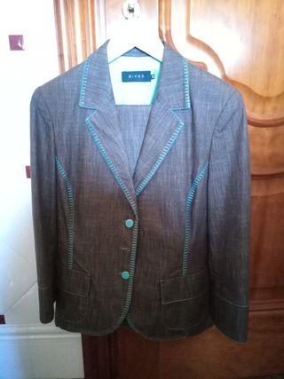 traje de chaqueta para mujer