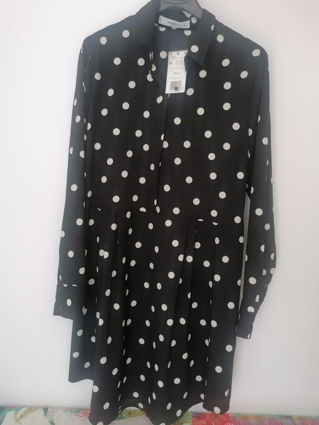 vestido lunares Mango talla XL nuevo sin estrenar