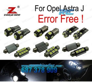 KIT COMPLETO DE 15 BOMBILLAS LED INTERIOR OPEL AST