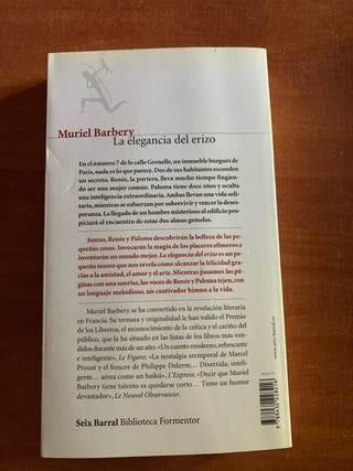 Libro La elegancia del erizo. Muriel Barbery