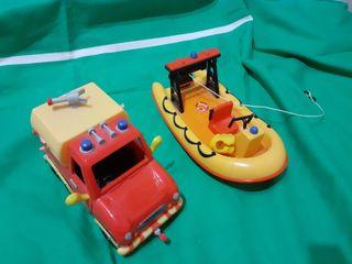 Lancha y coche SAM EL BOMBERO