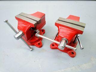 2 tornillos de banco de acero