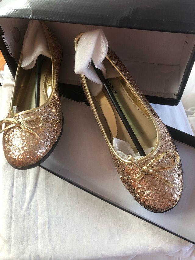 Zapatos Bailarinas doradas No 38