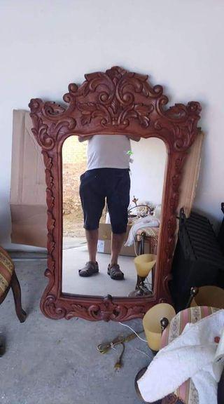 espejo rustico de vutage