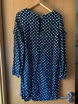 Vestido lunares mango talla 36