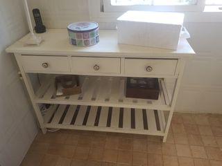 Mueble vitrina cocina blanco