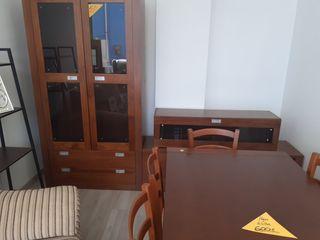 mueble de salón de 3 piezas de madera maziza de lu