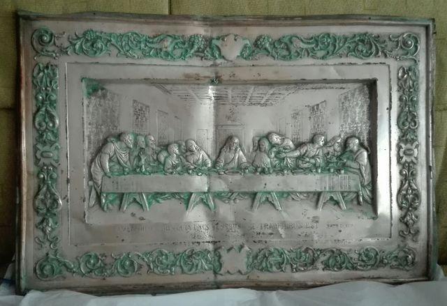 Cuadro de la Santa Cena en relieve