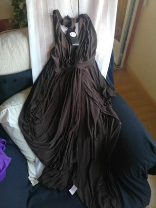 vestido mono largo