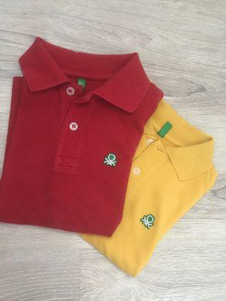Polos Benetton niño. 4-5 años