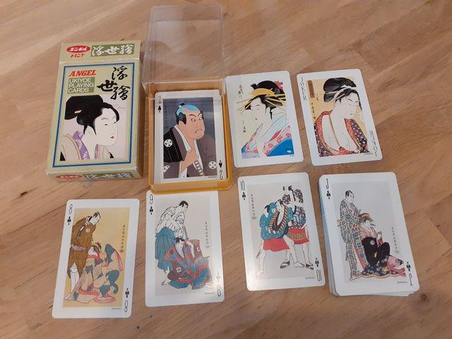 Baraja de cartas póker japonesa Angel UKIYOE