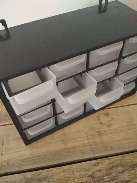 mueble cajones organización
