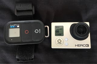 GoPro Hero3 + tarjeta memoria + accesorios