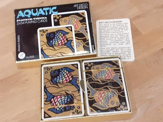 "Baraja de cartas de poker ""Aquatic"""